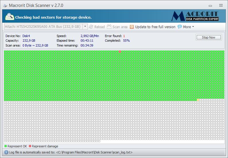 тестирование жесткого диска на битые сектора