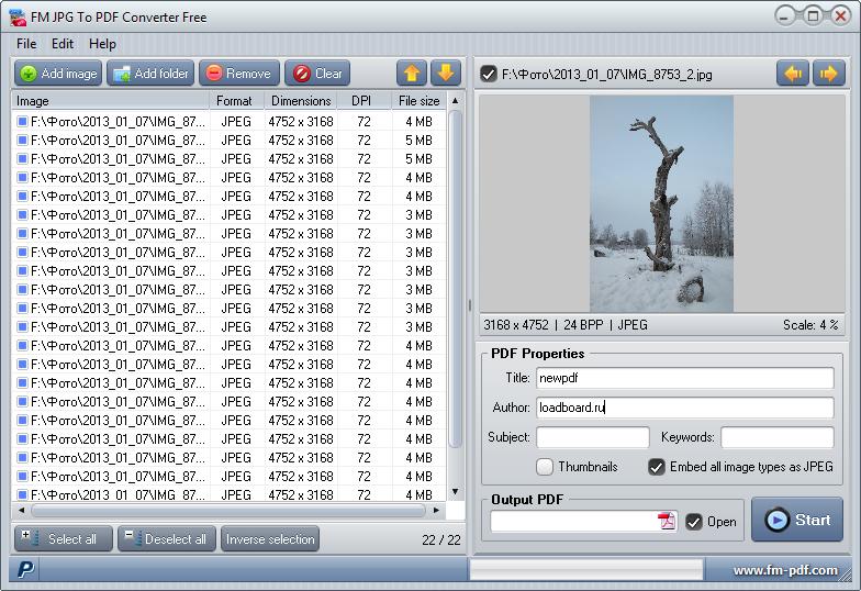 конвертер изображений в Pdf - фото 5